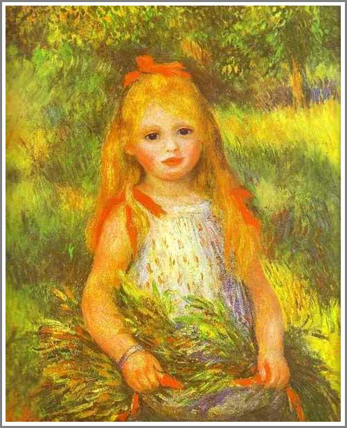 ルノアール 落穂を拾う少女