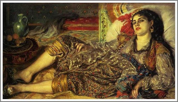 オダリスク(アルジェの女)ルノアール
