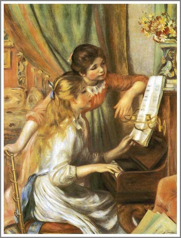 ルノアール【ピアノに寄る娘たち】