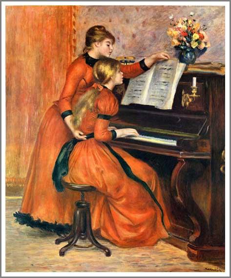 ルノアール【ピアノを弾く二人の少女】