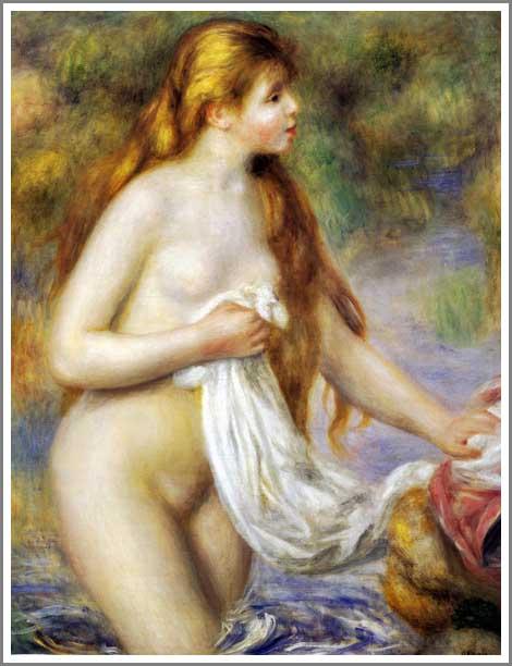 若い浴女 ルノアール