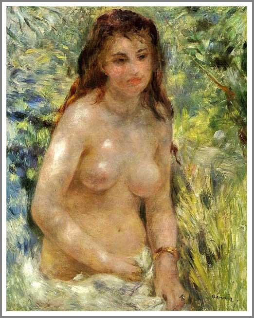 陽光のなかの裸婦 エチュードソルト光の効果 アート名画館