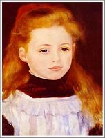 白いエプロンの少女 ルノワール