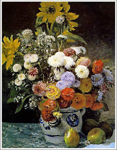 花瓶の花 ルノアール