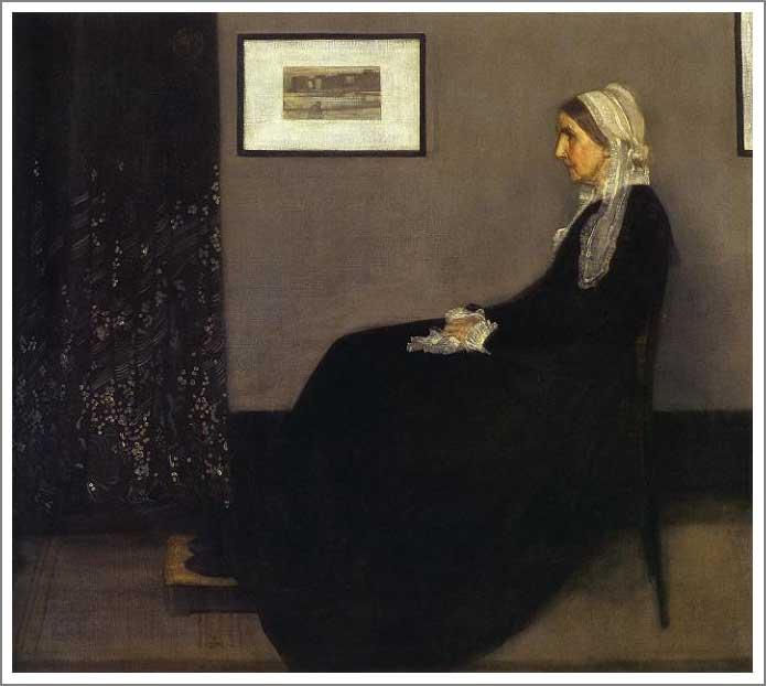 灰色と黒のアレンジメント 第1番 画家の母の肖像
