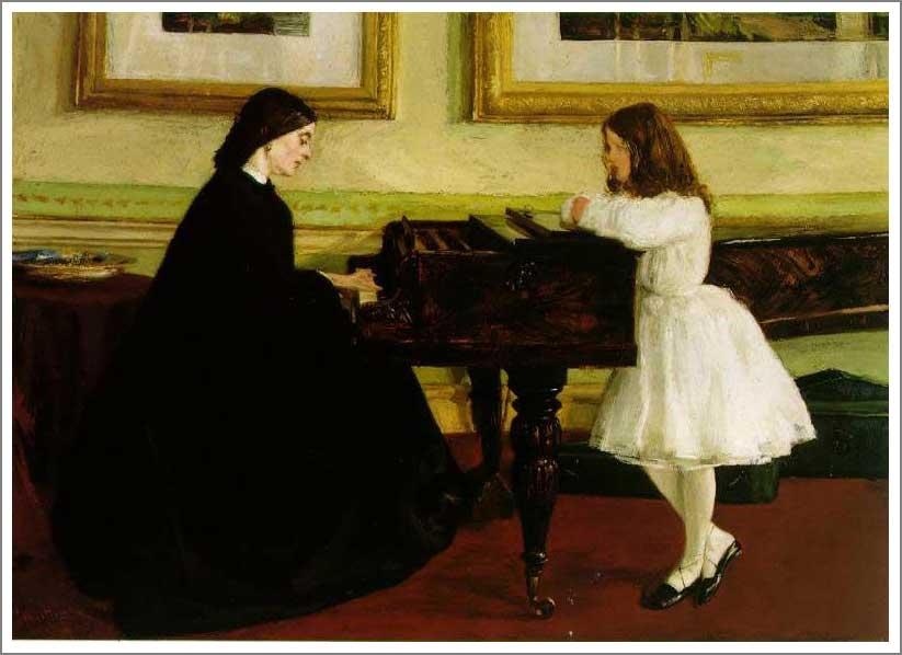 ホイッスラー ピアノにて