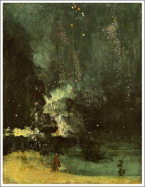 黒と金のノクターン ― 落下する花火