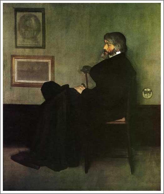 灰色と黒のアレンジメント 第2番 トマス・カーライルの肖像
