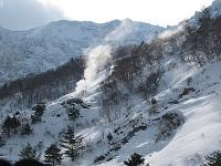 磐梯山の噴気  磐梯山は生きています