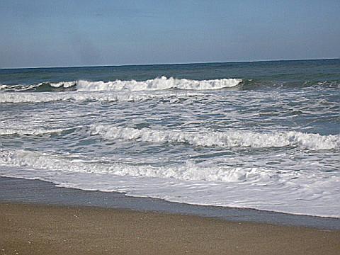 鹿島灘の冬の海