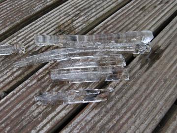 ホースの氷