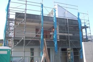 オープンハウス「おゆみ野の家」工事中の外観