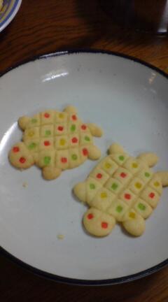 亀クッキー