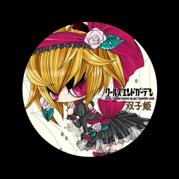 双子姫缶バッジ2