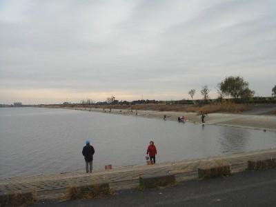遊水地で釣り