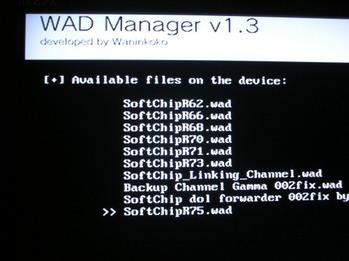 PSP-Wii-DS-Q&A - Wii Softchip rev75 wad 公開