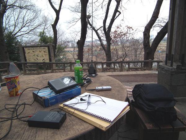 多摩川台公園でDX