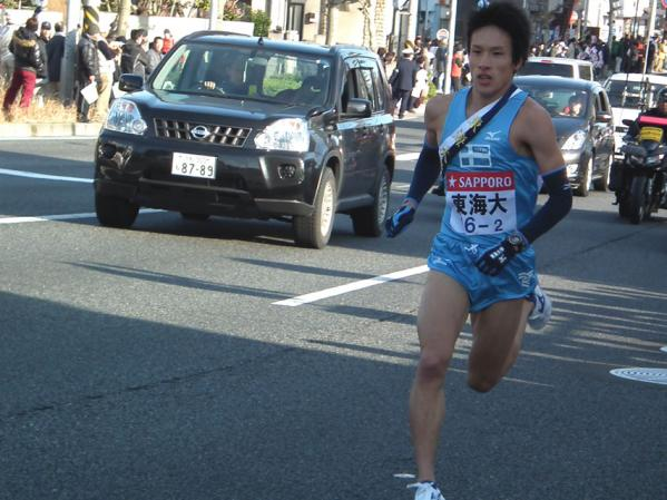 2010箱根駅伝 17人ゴボウ抜きの快走を見せた東海大の村澤明伸選手