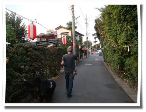 神社へ続く道