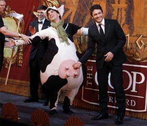 James Franco cow