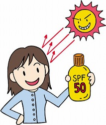 紫外線を受けることにより、コラーゲンの生産量の減少し、肌のハリを失わせる