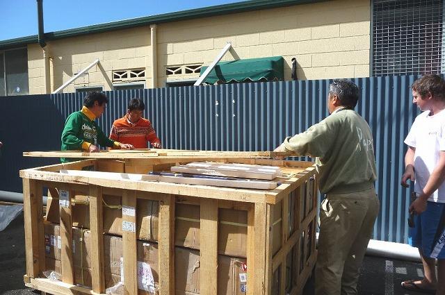 荷物の木枠