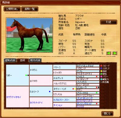 種牡馬アミウチ