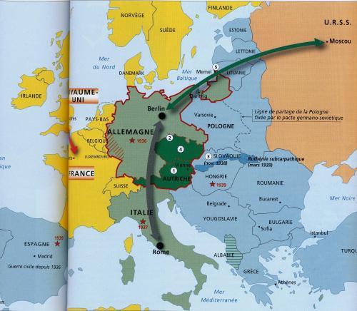 第一次大戦地図