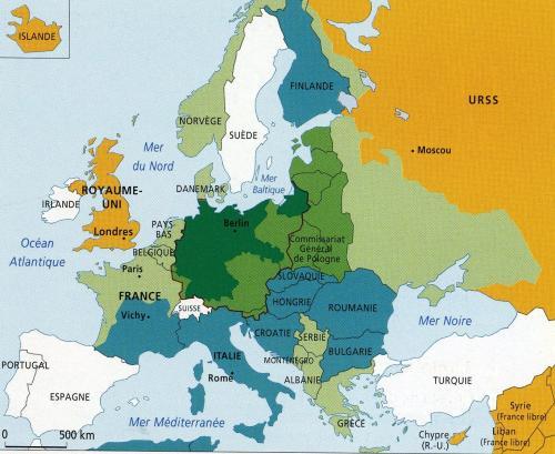 1942年10月のヨーロッパ