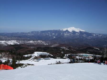 チャオ御岳スノーリゾートから乗鞍岳