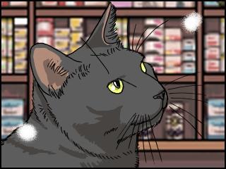 034 黒猫 アップ