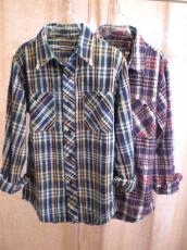 インディゴチェックL/Sシャツ