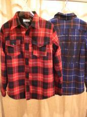 ウールチェックワーカーズシャツ