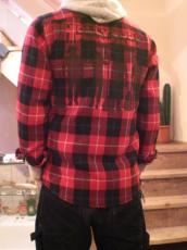 ウールチェック ワーカーズシャツ