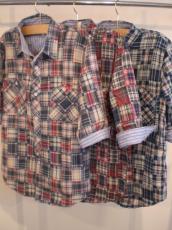 パッチワーク ダンガリーワーク7Sシャツ