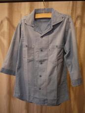 シャンブレータイト7分袖ワークシャツ