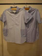 快晴堂 クレイジー丸衿プルオーバーシャツ&ボタンダウンシャツ