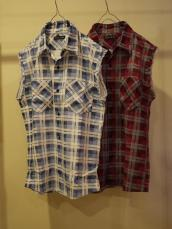 3カラーチェックUSEDカットオフネルシャツ