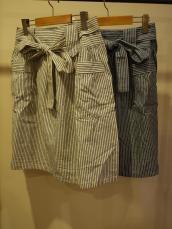 SameHerat ストライプリボンスカート