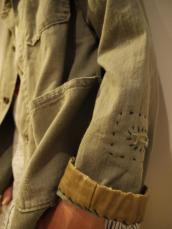 ヘリンボーンリペアカバーオールジャケット