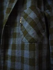 インディゴネルチェックロングシャツ