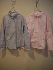 ストライプLADY'Sボタンダウンシャツ