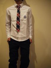 オックスエンブレムボタンダウンL/Sシャツ
