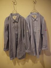 GAJIN ギンガム&ストライプビックL/Sシャツ