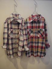 スプリングネルチェックL/Sシャツ