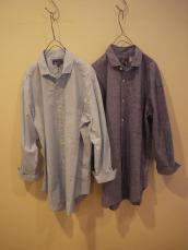 BLUE BLUE JAPAN(OKURA) シャンブレーオーバーL/Sシャツ