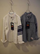 melple(メイプル) スクールボタンダウンL/Sシャツ