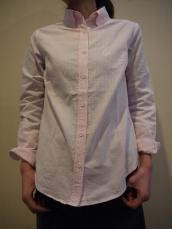 ストライプLADY'SボタンダウンL/Sシャツ