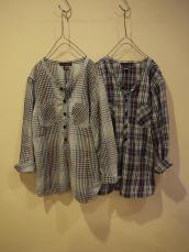 インディゴチェックプルオーバーシャツ(LADY'S)