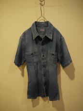 ライトデニムUSED 2ポケットシャツ